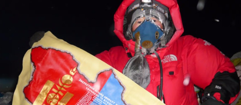 May 2011 - the first female Mongolian Summiteer of Mt.Everest